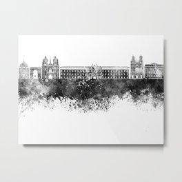Dijon skyline in black watercolor Metal Print