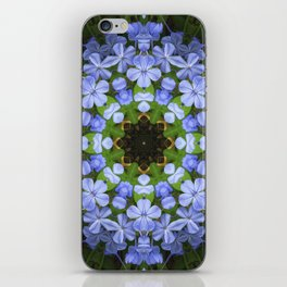 Blue Plumbago Kaleidoscope 11 iPhone Skin