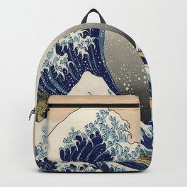 seascape painting japanese ukiyo e art the great wave off kanagawa Backpack