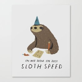 sloth speed Canvas Print