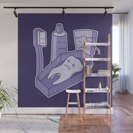 Tooth funeral Wall Mural