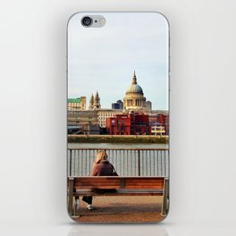 Sunset at South Bank with St Paul's  iPhone Skin