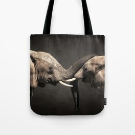 Two Elephants Tote Bag