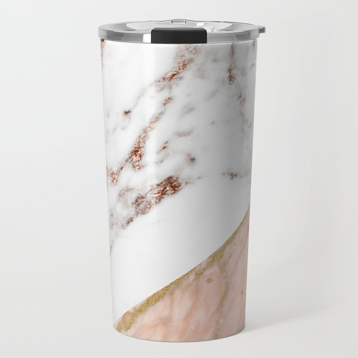 Marble rose gold blended Travel Mug