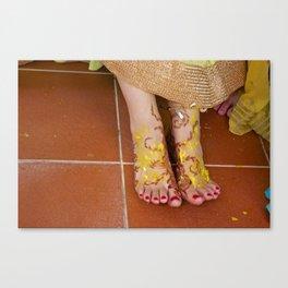 Mehndi Henna Before Wedding Canvas Print