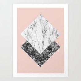 Natural polygon III. Abstract art. Minimalism. Modern. Art Print