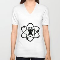 philadelphia V-neck T-shirts featuring Philadelphia Experiment  by PussyCatTees