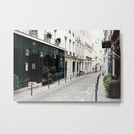 Paris Bike Alley Metal Print
