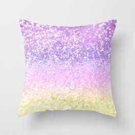 Unicorn Girls Glitter #4 #shiny #decor #art #society6 Throw Pillow