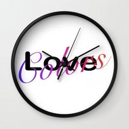 Love Colors Wall Clock