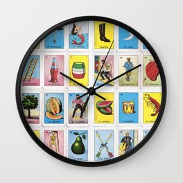Lotería Cards Wall Clock