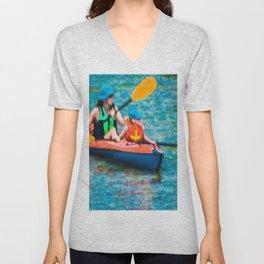 Kayak -Impressionistic Unisex V-Neck