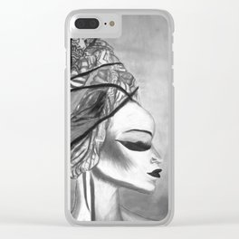 African Figures and Patterns 3 Clear iPhone Case