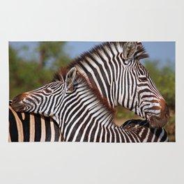 Zebra love, Africa wildlife Rug