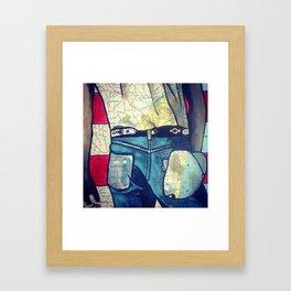 Bruce Springstein's Butt - Assbury Park Framed Art Print