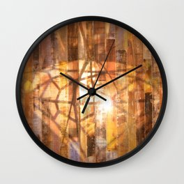 A Diamond Reflected Wall Clock