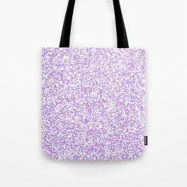 Tiny Spots - White and Light Violet Tote Bag