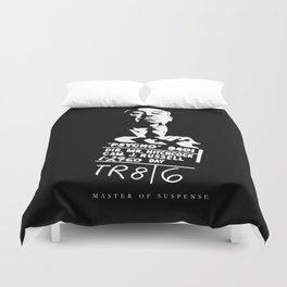Alfred Hitchcock Master of Suspense Movie Psycho Duvet Cover