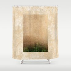 Rising green Shower Curtain