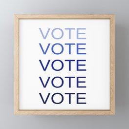 VOTE VOTE VOTE VOTE VOTE Framed Mini Art Print