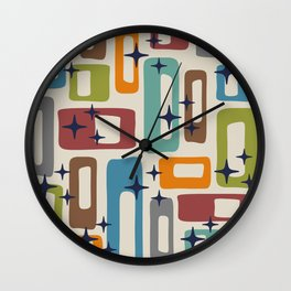Retro Mid Century Modern Abstract Pattern 224 Wall Clock