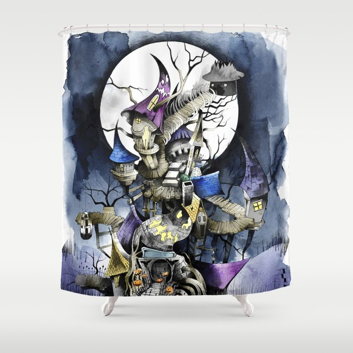 The Nightmare Before Christmas Shower Curtain