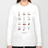 battlestar Long Sleeve T-shirts featuring Foods of The Office by Tyler Feder