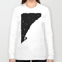 climbing Long Sleeve T-shirts featuring night climbing by Balazs Solti
