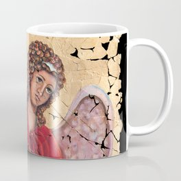 Archangel Gabriel Fresco With A Crackled Finish for #Society6 Coffee Mug
