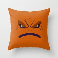 naruto Throw Pillows featuring NARUTO - GAMAKICHI by Raisya