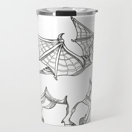 Winged Wild Boar Doodle Art Travel Mug