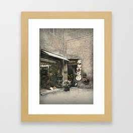 Siena Shops Framed Art Print