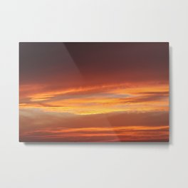 Red Evening Metal Print