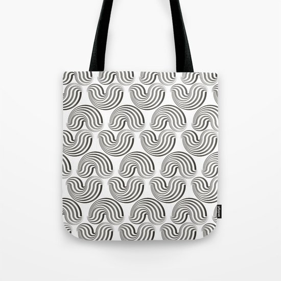 Black and white pattern - Optical game12 Tote Bag