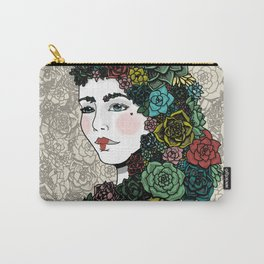 Lady Succulent Carry-All Pouch
