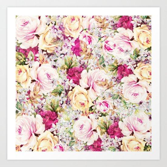 carpet of roses Art Print