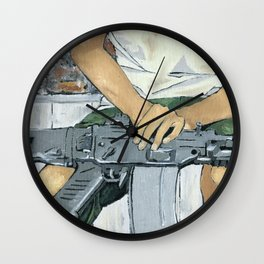 Child Soldier 2 Wall Clock