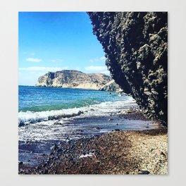 Santorini Cliff Canvas Print