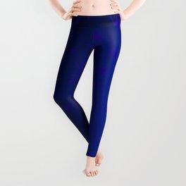blue spots on blue background Leggings