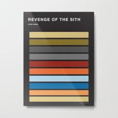 The colors of StarWars - Revenge of the sith episode 3 Metal Print