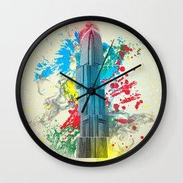 IFC Hong Kong Abstract Wall Clock