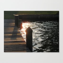 Sunset Pier Canvas Print