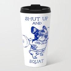 Frenchie Squat Metal Travel Mug