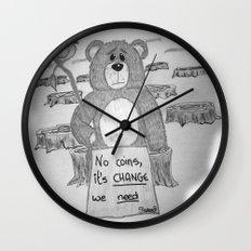 Sad bear 2 Wall Clock
