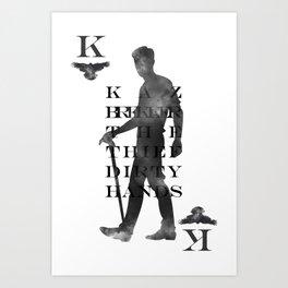 Kaz Brekker Playing Card Art Print