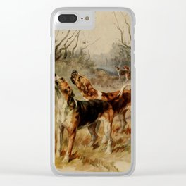 Earl, Maud (1864-1943) - The Power of the Dog 1910 (Foxhounds) Clear iPhone Case