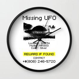 Missing UFO Wall Clock