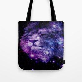 leo lion purple blue Tote Bag