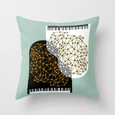 The Entertainers - Two Pianos Throw Pillow