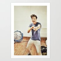 louis tomlinson Art Prints featuring Louis Tomlinson by Haley Nicole